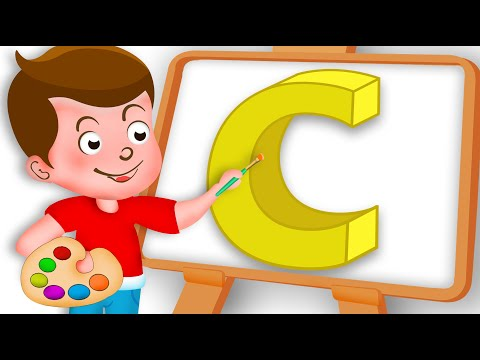 Drawing Alphabet C Letter coloring painting for kids Kids Drawing TV