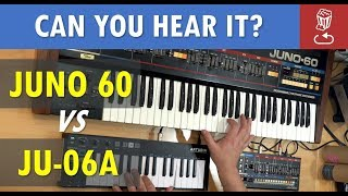 Roland JU-06A vs JUNO 60 // Can you tell the difference? (JU06A Review)