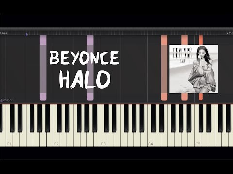 Beyonce - Halo - Piano Tutorial by Amadeus (Synthesia)