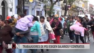 04/09/15 14:40  TRABAJADORES DE PEU EXIGEN SALARIOS Y CONTRATOS