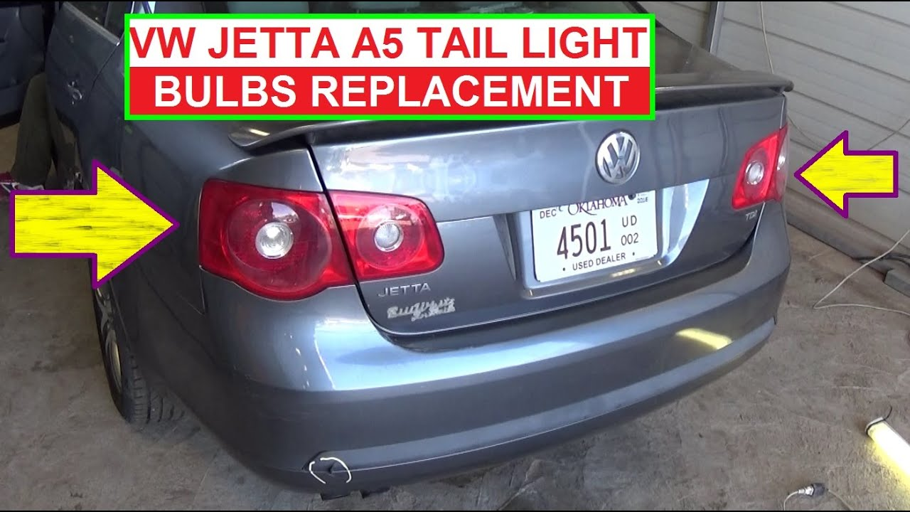 Vw Jetta Mk5 A5 Rear Tail Light Bulb Replacement Left Right Turn Signal Brake