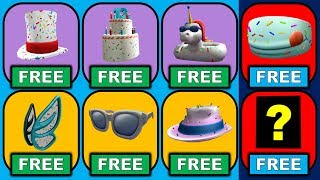 Get The Cake Mask & All Accessories! ROBLOX 13th Birthday!