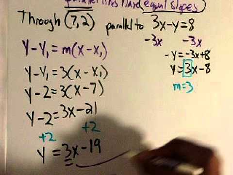 Find the equation of parallel and perpendicular lines - YouTube