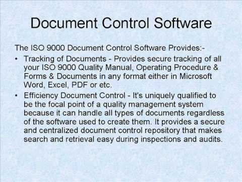 iso 9001 software document control software funnydogtv With iso document control software