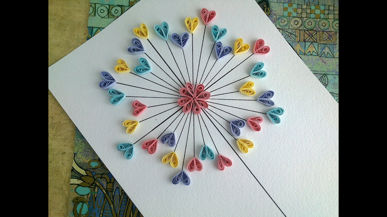 quilling paper tutorial diy paper quilling love card