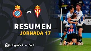 Resumen de RCD Espanyol vs Real Sporting (2-0)