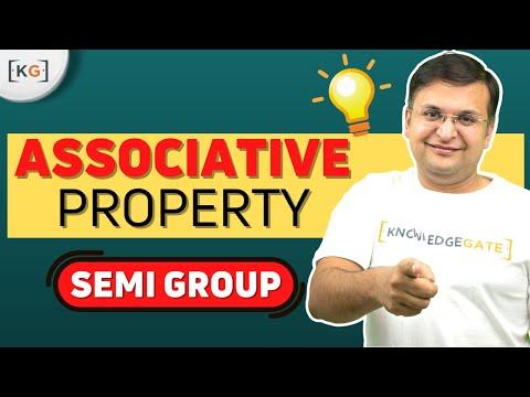 Associative Property | Semi Group | Group Theory | Hindi | Discrete Mathematics- part-3