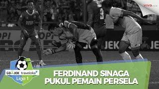 Baru Main 5 Menit, Ferdinand Sinaga Pukul Pemain Persela