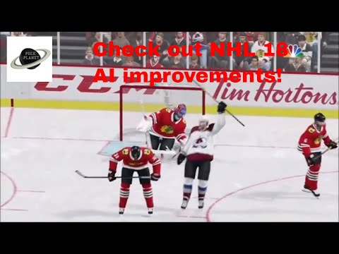 NHL 18 Colorado Avalanche Vs Chicago Blachawks pre season game 1 simulation game