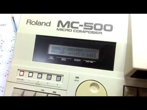 Roland MC-500 Micro Composer - Rhythm track test
