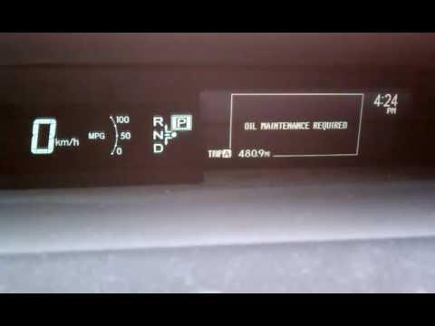 Toyota Prius 2010 Oil Light Reset - YouTube