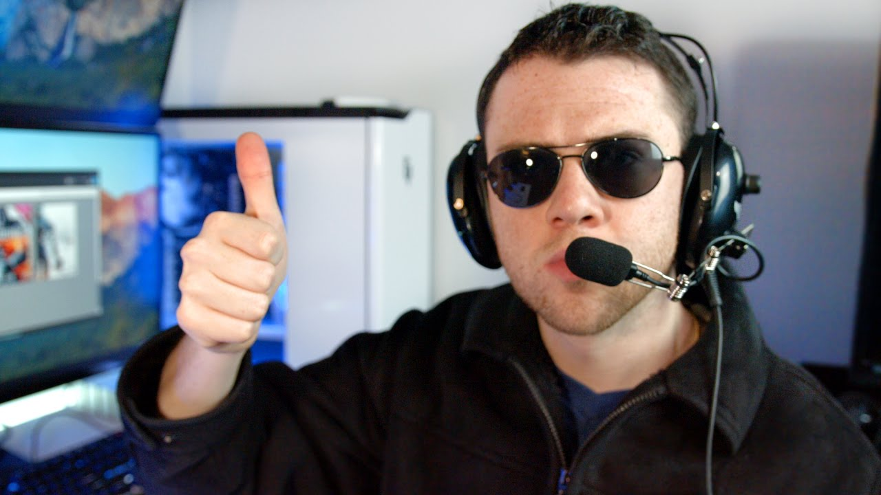 1ffbc4cf5b Using a Pilot Headset for Gaming  - YouTube