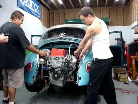 Big Turbo K20 Swap Bug First Start Up Gt40r