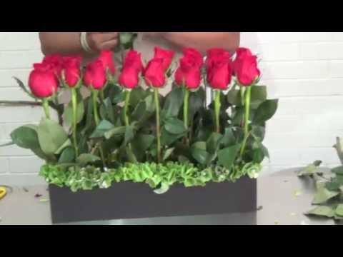 Arreglo Floral Con 24 Rosas Rojas Códigom38 Youtube