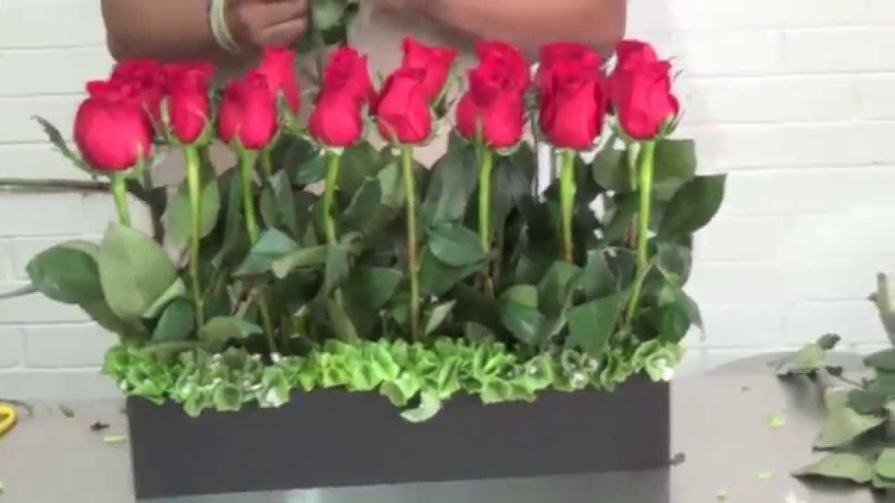 Arreglo Floral Con 24 Rosas Rojas Códigom38
