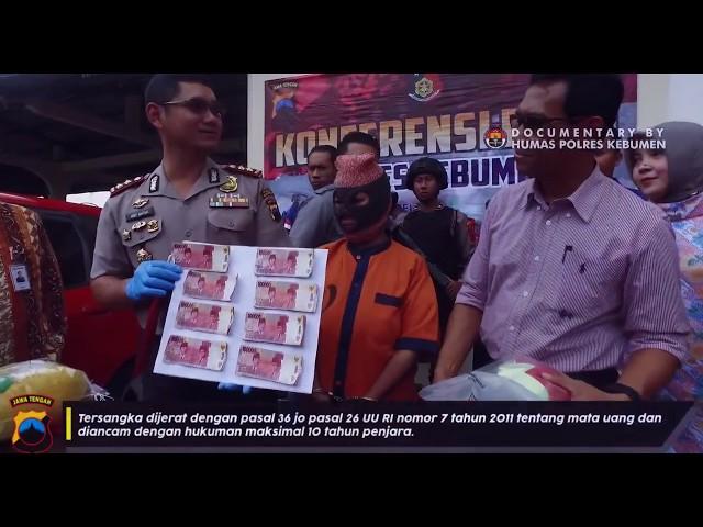 Konferensi Pers Kasus Peredaran Uang Palsu di Kebumen
