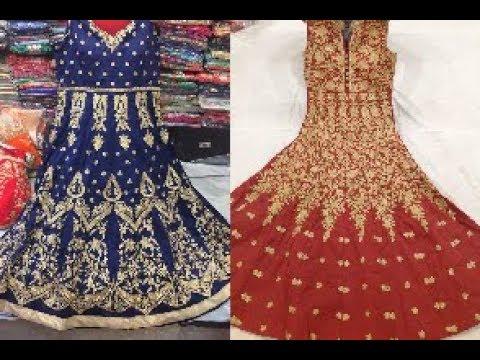 Latest Heavy Embroidery Work Long Anarkali Suits || Stonework Anarkali Dress 2018