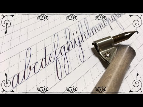 Calligraphy Copperplate Thin Style カリグラフィー カッパープレート 細字