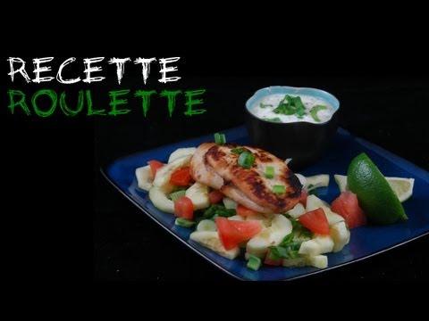 Recette : Blancs de poulet grillés au yaourt et au concombre