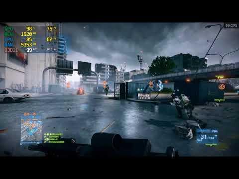 Battlefield 3 - GTX 1060 3GB + i5-7400 (1080p60fps) (Ultra Settings)