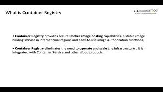 Learn Alibaba Cloud Container Registry in 10 mins