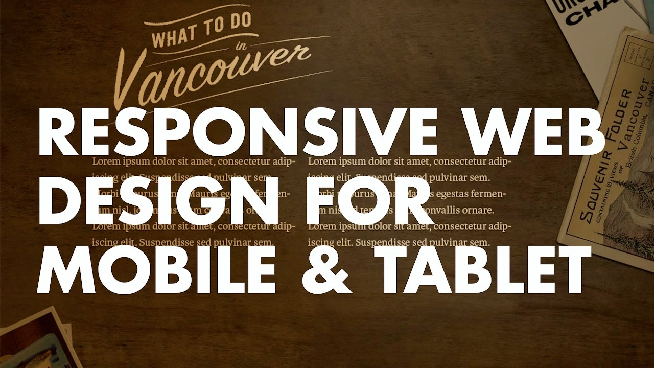 How To Responsive Web Design For Mobile And Tablet Youtube