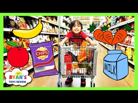 Kid Grocery Shopping Trip with Kid Size Shopping Cart EVERYDAY WITH RYAN TOYSREVIEW