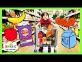 Kid Grocery Shopping Trip with Kid Size Shopping Cart