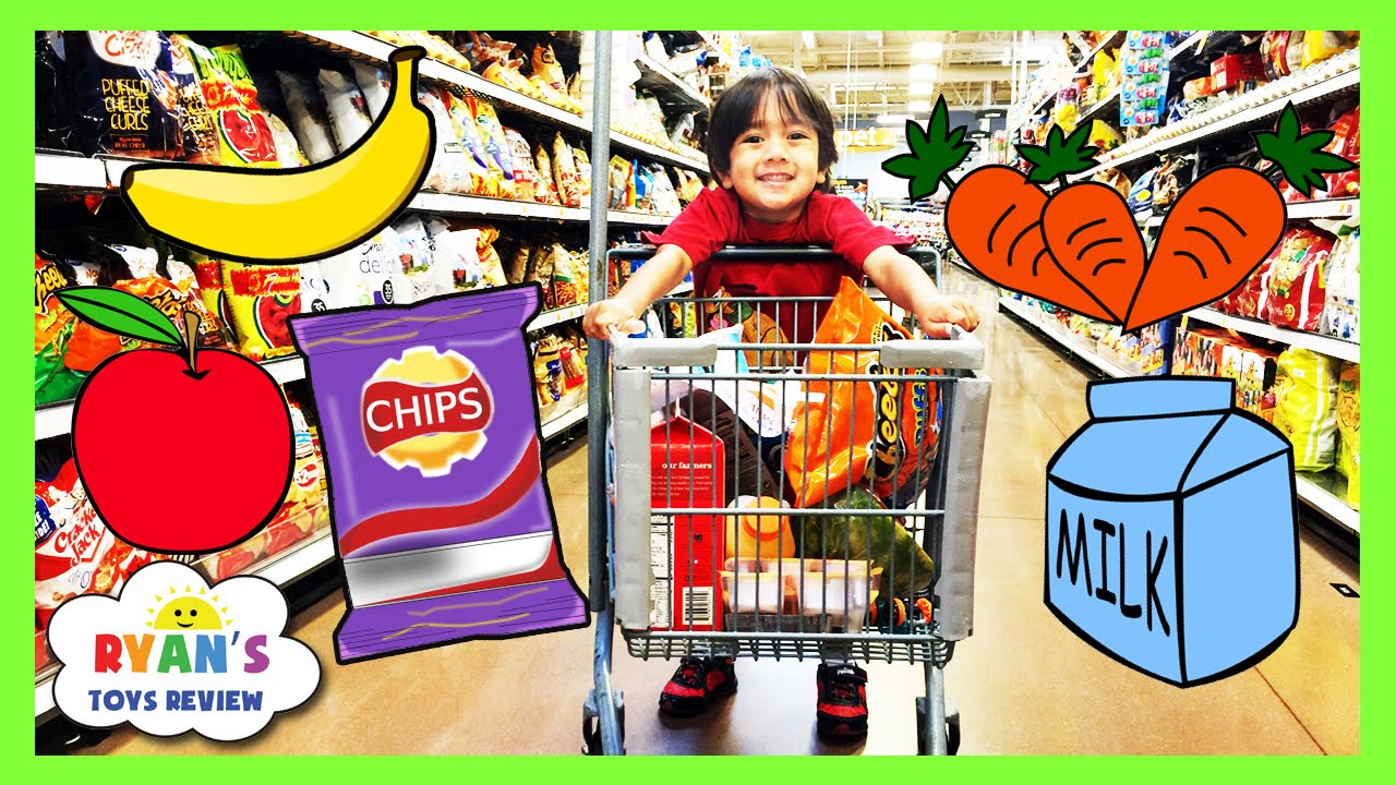 Black Grocery Store Items For Preschoolers
