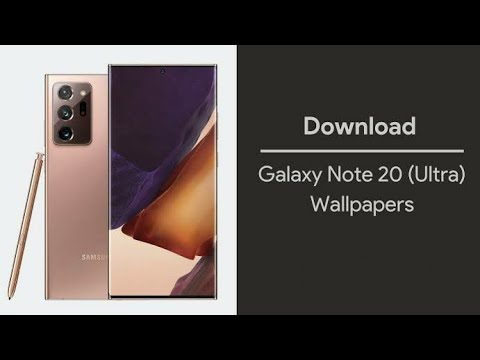 Samsung Galaxy Note 20 Ultra Stock Wallpapers 4k Resolution With Download Link Youtube