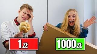 ZAKUPY ZA 1 ZŁ VS 1000 ZŁ!