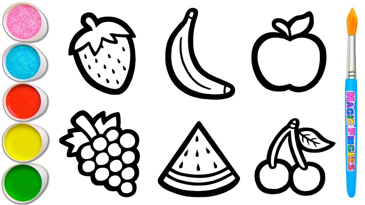 Download Mari Belajar Bagaimana Menggambar Buah Bersama   Tips Melukis, Mewarnai untuk Balita & Anak #149
