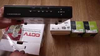 видео Видеорегистратор 4-канальный компактный