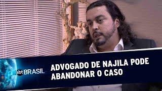 Advogado de Najila Trindade diz que pode abandonar o caso   SBT Brasil (10/06/19)