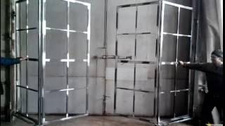 видео Раздвижные и складные ворота