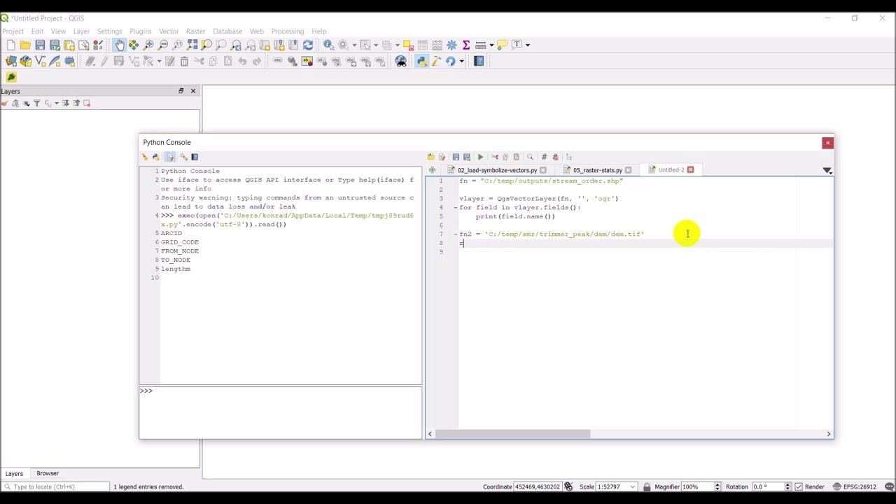 QGIS Python (PyQGIS) - Load raster and vector layers without adding to QGIS  interface