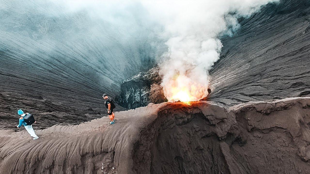 Забрались на кратер вулкана. Извержение вулкана Бромо ...