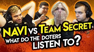 NAVI vs Team Secret. What do the doters listen to?
