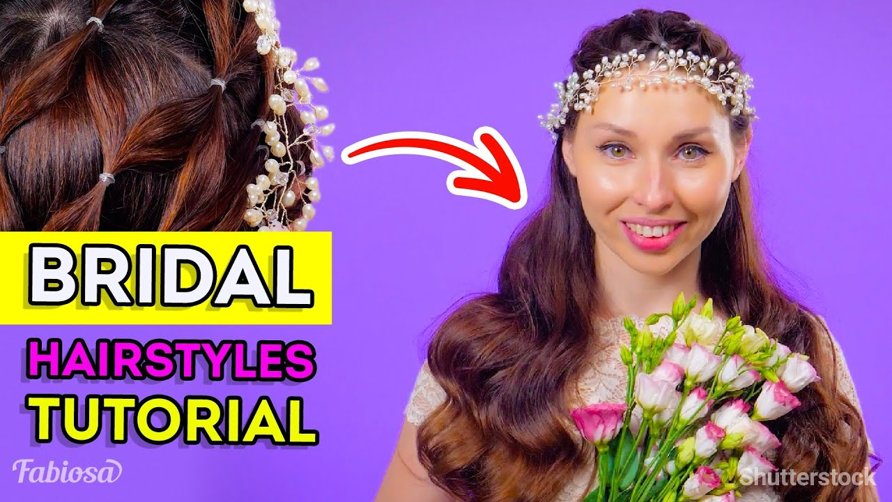 Easy bridal hairstyle tutorial | Top 3 unique hair looks