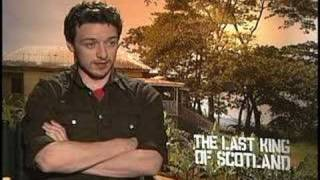 JAMES MCAVOY PASSED OUT IN THE LAST KING OF SCOTLAND