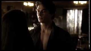 Дневники вампира Дэймон и Елена полюбила засранца