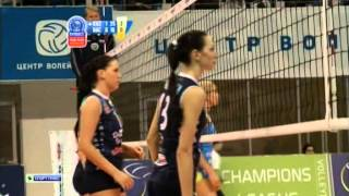 Волейбол Женщины ЛЧ 3 тур Динамо Кз Штиинца 26 11 2013