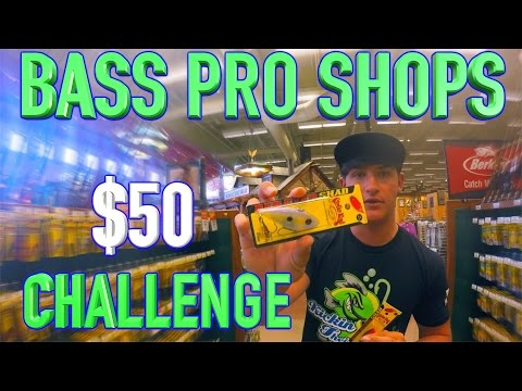 Bass Pro Shops ~ $50 Challenge !!! Best Bass Fishing Tackle !