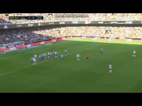 Ezequiel Garay Goal   Valencia vs Deportivo la coruña 1 -0 La Liga 2017 HD