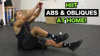Intense Tabata At Home Abs & Obliques Workout (HIIT)