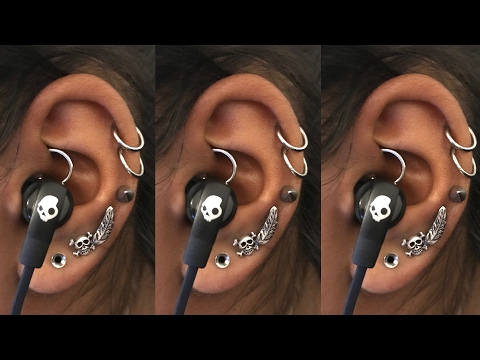 How To Wear Earphones With A Daith Piercing | Piercing Tutorial