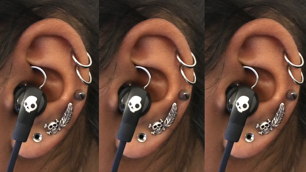 How To Wear Earphones With A Daith Piercing Piercing Tutorial