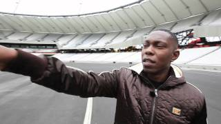 The London Olympic stadium welcomes Dizzee Rascal