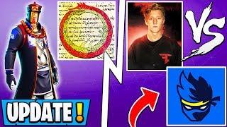 "*NEW* Fortnite Update! | Ninja Calls Tfue Hacker, Season 8 ""Cycle"", Auto Swap!"