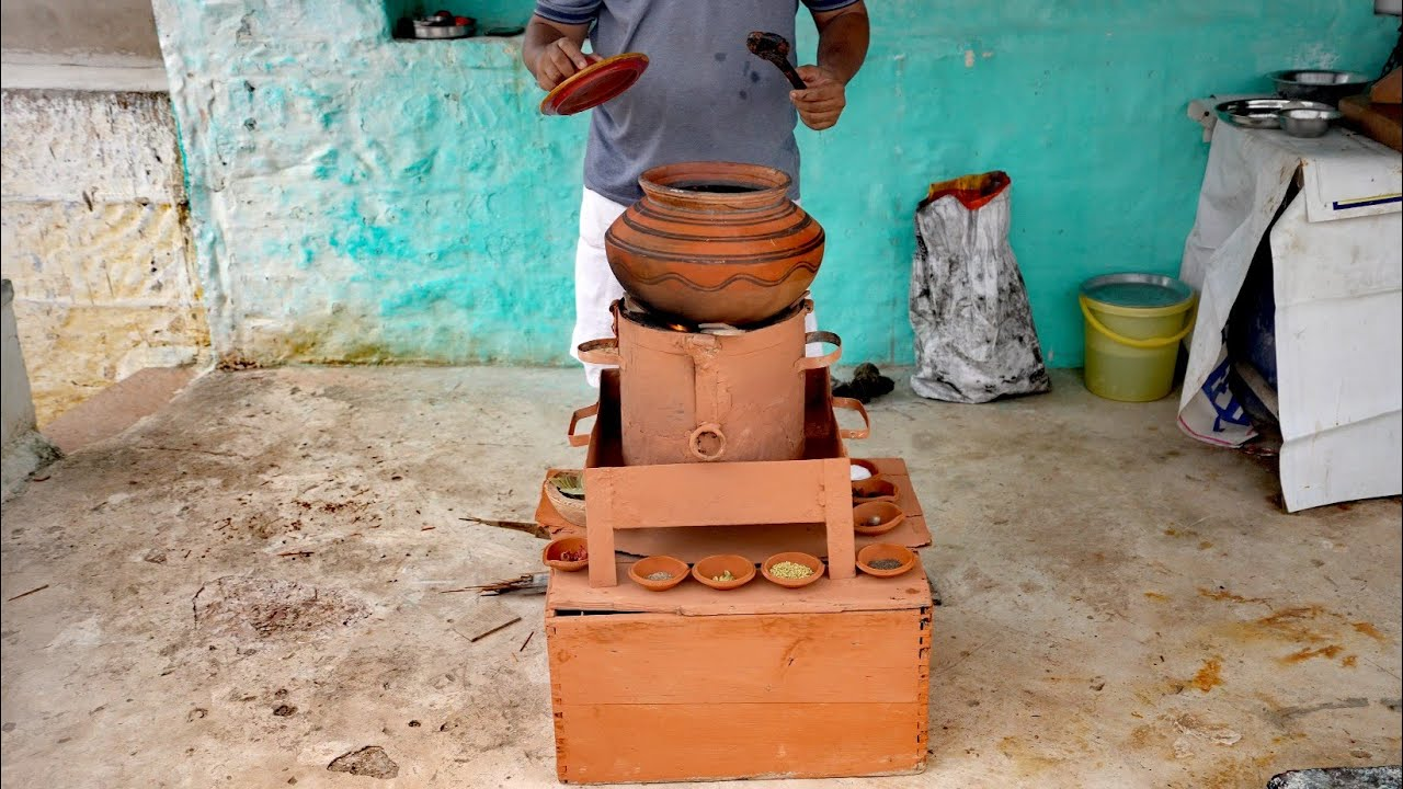 Secret of Rajasthani Handi Mutton   Village Style Handi Mutton Making   Indian Street Food